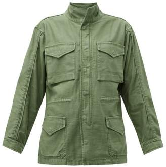 Frame Drawstring-waist Cotton Military Jacket - Womens - Khaki