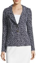 St. John Spring Tweed Knit Blazer w F