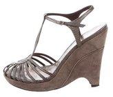 BCBGMAXAZRIA Cutout Wedge Sandals