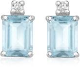 Tagliamonte Incanto Royale Aquamarine and Diamond 18K Gold Earrings