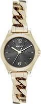 DKNY Parsons Gold Ip Black Dial Chain Watch