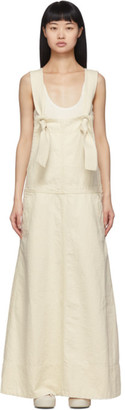 Jil Sander Off-White Denim Overall Dress