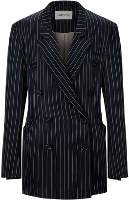 PortsPURE Striped Double-Breasted Blazer
