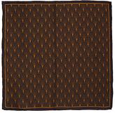 John Lewis Deco Print Silk Pocket Square, Cognac