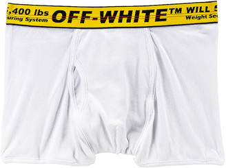 Off-White Single Pack Boxer in White & Yellow | FWRD