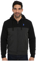 U.S. Polo Assn. Sherpa Lined Color Block Full Zip Hoodie