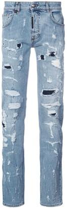 Philipp Plein Heavy Distressed Jeans