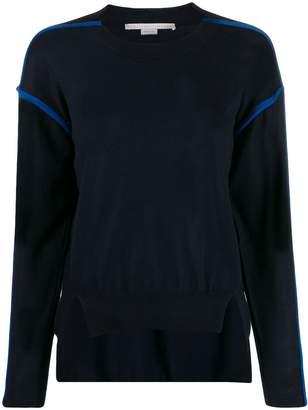 Stella McCartney contrast-seam high-low sweater