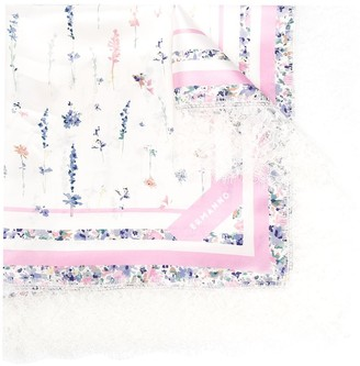 Ermanno Ermanno Floral Print Scarf