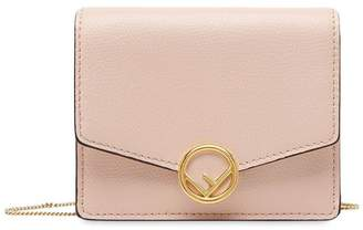 Fendi small chain wallet bag pink