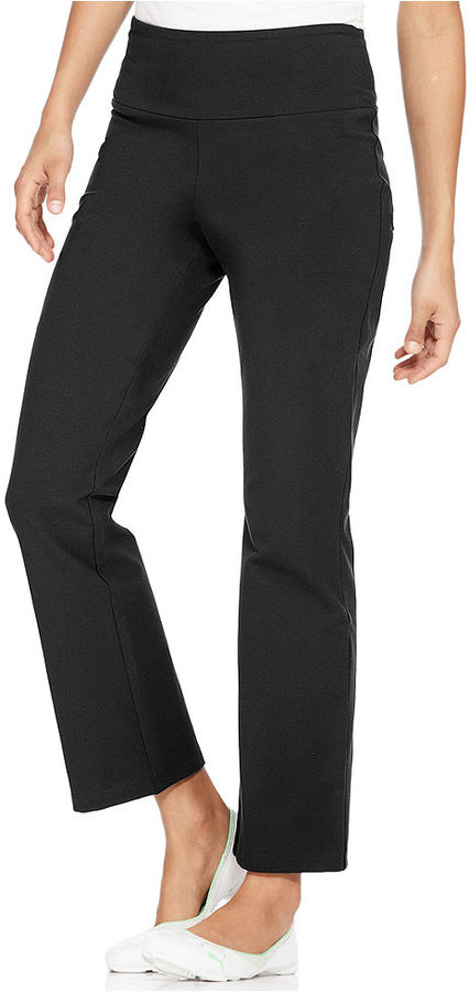 Style&Co. Sport Pants, Tummy Control Slimming Straight Leg Ankle Active