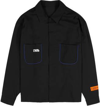 Heron Preston CTNMB Worker Black Wool-blend Shirt