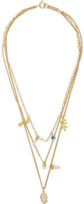 Isabel Marant Gold and Blue Layered Necklace