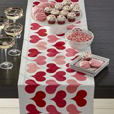 Crate & Barrel Valentine Hearts Table Runner.