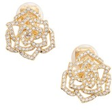 Nadri Women's Rose Clip-On Stud Earrings