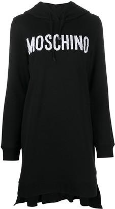 Moschino Logo Print Hooded Dress