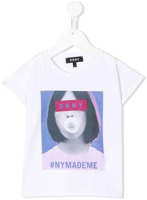 DKNY NY Made Me print T-shirt