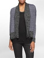 Calvin Klein Womens Fleck Heathered Open Front Cardigan