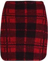 Thever Women Ladies Knitted Scottish Tartan Check Print Mini Skirt Sz 8-14 (M/L (12-14), )