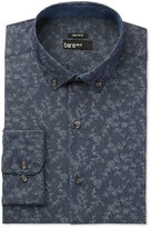 Bar III Men's Wear Me Out Slim-Fit Indigo Vine-Print Dress Shirt, Only at Macy's
