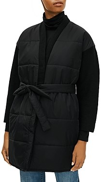 Eileen Fisher Plus Size Belted Puffy Coat