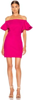 Cushnie Off the Shoulder Mini Dress in Azalea | FWRD