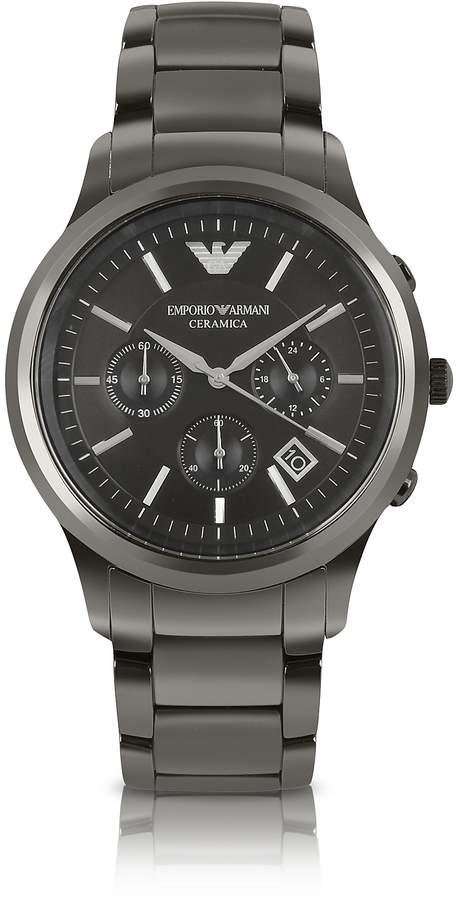 Emporio Armani Renato - Polished Black Ceramic Watch