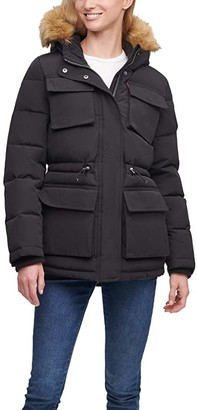 Levi's Arctic Cloth Four-Pocket Storm Coat (Black) Women's Clothing