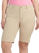 Lauren Ralph Lauren Plus Stretch Cotton Shorts