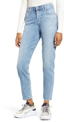 Citizens of Humanity Liya High Waist Nonstretch Organic Cotton Boyfriend Jeans