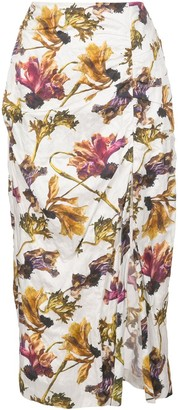 Jason Wu Collection floral-print midi skirt