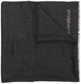 Dolce & Gabbana logo scarf - men - Cashmere - One Size