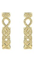Judith Ripka Women's Stella 18 ct Yellow Gold Diamond Hoop Earrings