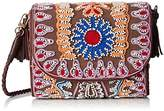 Antik Batik Mallo Clutch, Women's Cross-Body Bag, Marron (), 6x16x14 cm (W x H L)