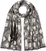 Lucien Pellat-Finet Printed Cotton Scarf with Cashmere