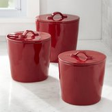 Crate & Barrel Marin Red Canisters