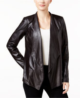 JM Collection Petite Foil Printed Knit Jacket, Only at Macy's