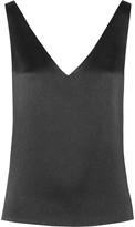 Maiyet Open-back textured-silk top