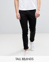 Cheap Monday Tall Jeans Tight Skinny Fit In New Black