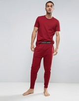 Polo Ralph Lauren Lounge Joggers Slim Fit Cuffed Jersey In Red