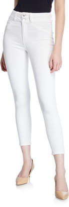 L'Agence Peyton High-Rise Skinny Jeans w/ Double Waistband