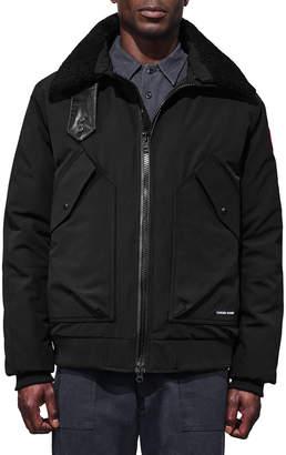 Canada Goose Men's Bromley Shearling-Collar Bomber Jacket