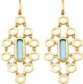 Astley Clarke 18ct gold vermeil honeycomb earrings