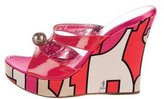 Emilio Pucci Embellished Wedge Sandals