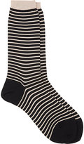 Antipast Women's Stripe Socks-BLACK