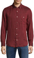 7 For All Mankind Men's Oxford Button-Down Sportshirt