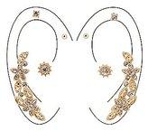 Charlotte Russe Embellished Ear Crawler & Stud Earrings -4 Pack