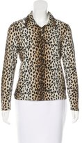 Blumarine Wool Cheetah Print Top