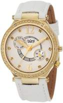 Burgi Women's BU45YG Round Swiss Quartz Diamond Classic Stainless Steel Day Date Watch