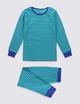 Marks and Spencer Cotton Rich Striped Pyjamas (6-16 Years)